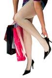 Het winkelen euforie Stock Foto's