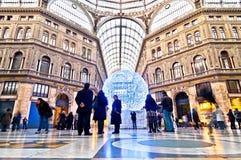 Het winkelen galerij Galleria Umberto I in Napels, Italië royalty-vrije stock foto