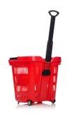Het winkelen geïsoleerd supermarktkarretje Stock Afbeeldingen
