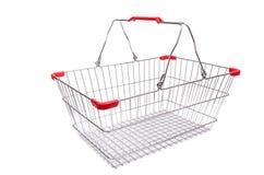 Het winkelen geïsoleerd supermarktkarretje Royalty-vrije Stock Afbeeldingen