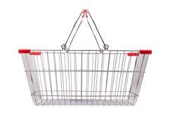 Het winkelen geïsoleerd supermarktkarretje Royalty-vrije Stock Fotografie