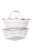 Het winkelen geïsoleerd supermarktkarretje Royalty-vrije Stock Afbeelding