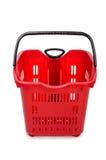 Het winkelen geïsoleerd supermarktkarretje Stock Afbeelding