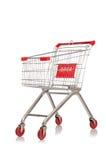 Het winkelen geïsoleerd supermarktkarretje Royalty-vrije Stock Foto