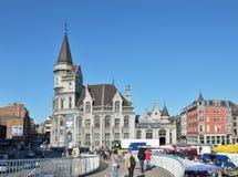Het winkelen gebied in centrum van Luik Royalty-vrije Stock Foto