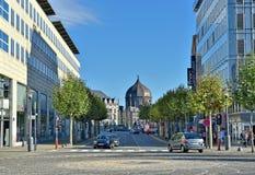 Het winkelen gebied in centrum van Luik Royalty-vrije Stock Afbeelding