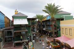 Het winkelen Gebied op Curacao royalty-vrije stock foto's