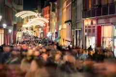 Het winkelen gedrang in Duitsland stock fotografie