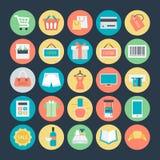 Het winkelen Gekleurde Vectorpictogrammen 1 royalty-vrije illustratie