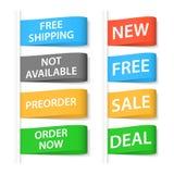 Het winkelen geplaatste etiketten. Royalty-vrije Stock Afbeeldingen