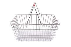 Het winkelen geïsoleerd supermarktkarretje Stock Foto