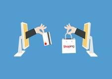 Het winkelen grafische zakvector Stock Foto