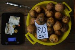 Het winkelen, groenten in markt Stock Foto