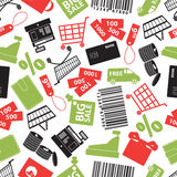 Het winkelen het patroon eps10 van de pictogrammenkleur Stock Afbeelding