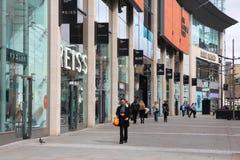 Het winkelen in het UK Stock Foto's
