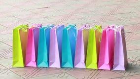 Het winkelen Het winkelen Zakken stock footage