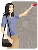 Het winkelen illustratiereeks stock illustratie