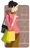Het winkelen illustratiereeks Stock Foto