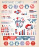 Het winkelen infographics. Vector. stock illustratie