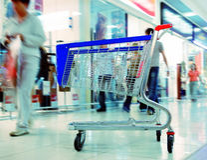 Het winkelen Karretje Stock Fotografie