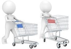 Het winkelen Karretje. Stock Fotografie