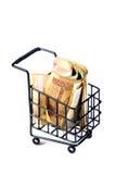 Het winkelen karretje Stock Foto's