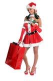 Het winkelen Kerstman stock foto