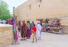 Het winkelen in Khiva Stock Foto's