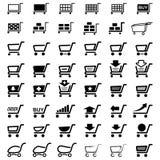 Het winkelen koopt Marktkar Stock Foto's