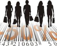 Het winkelen Korting, vijftig percenten Stock Foto's