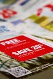 Het winkelen kortingen stock foto