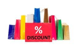 Het winkelen kortingsconcept Stock Foto's