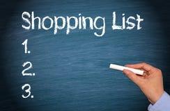 Het winkelen lijst Stock Afbeeldingen