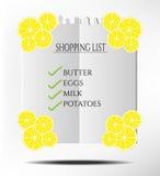 Het winkelen lijst Stock Foto