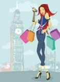 Het winkelen in Londen Royalty-vrije Stock Afbeeldingen