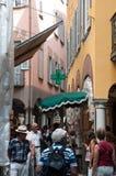 Het winkelen in Lugano Stock Afbeeldingen
