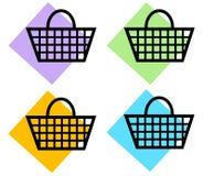 Het winkelen Mand Royalty-vrije Stock Afbeeldingen