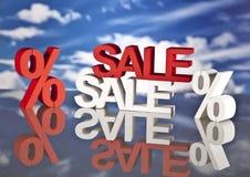 Het winkelen mand en verkoop Stock Fotografie