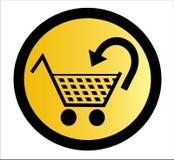 Het winkelen mand - vector Stock Foto