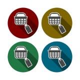 Het winkelen mandpictogram, markeringspictogram stock illustratie