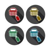 Het winkelen mandpictogram, markeringspictogram royalty-vrije illustratie