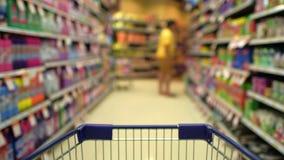 Het winkelen manie in de markt