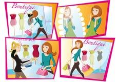 Het winkelen meisjesdag Stock Foto