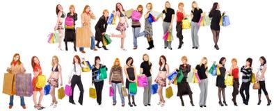 Het winkelen menigten Royalty-vrije Stock Afbeeldingen