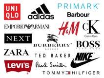 Het winkelen Merkenpictogrammen Royalty-vrije Stock Foto's