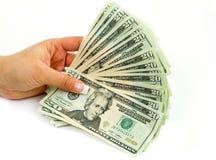Het winkelen met contant geld Royalty-vrije Stock Foto's