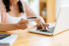Het winkelen met Creditcard Stock Fotografie