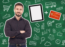 Het winkelen met Creditcard stock afbeeldingen