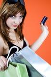 Het winkelen nieuwigheid Stock Foto's