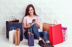 Het winkelen online betaling stock foto
